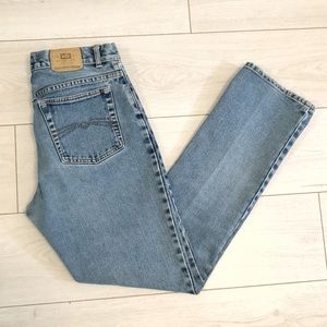 Vintage straight leg high waisted jeans
